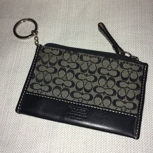 Vintage Coach Signature Fabric key ring